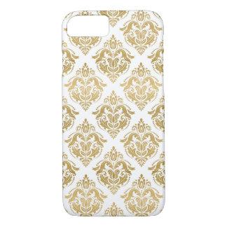 Capa iPhone 8/ 7 Teste padrão geométrico dos damascos florais do