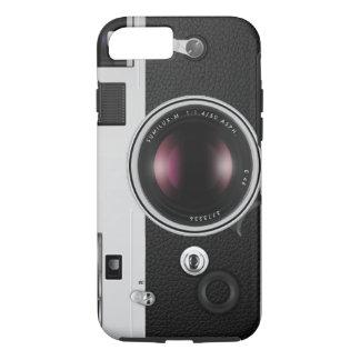 Capa iPhone 8/ 7 Teste padrão legal da câmera engraçada do vintage