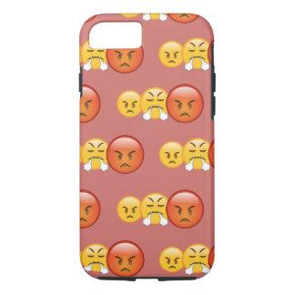 Capa iPhone 8/ 7 Teste padrão louco/irritado de Emoji