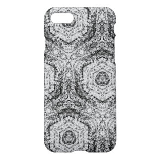 Capa iPhone 8/7 Teste padrão preto cinzento branco de Decoarttive