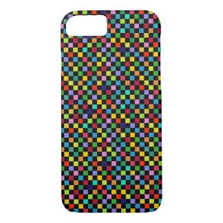 Capa iPhone 8/ 7 teste padrão quadrado colorido