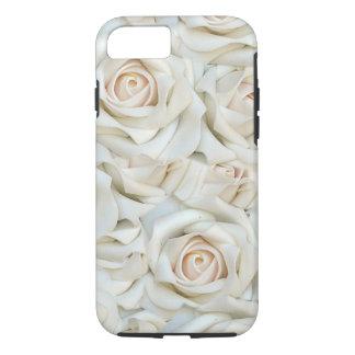 Capa iPhone 8/ 7 Teste padrão romântico dos rosas brancos