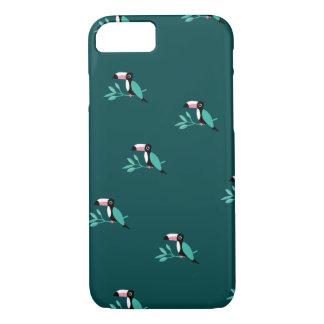 Capa iPhone 8/ 7 Teste padrão tropical do paraíso dos pássaros