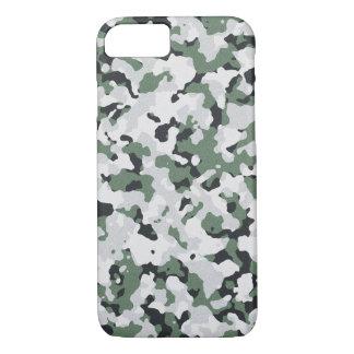 Capa iPhone 8/ 7 Teste padrão verde da camuflagem