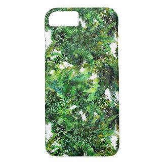 Capa iPhone 8/ 7 Teste padrão verde da queda da floresta da