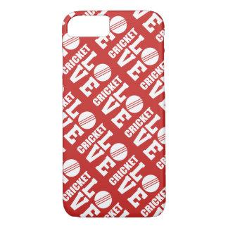 Capa iPhone 8/ 7 Teste padrão vermelho do amor do grilo
