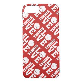 Capa iPhone 8/ 7 Teste padrão vermelho do amor do tênis