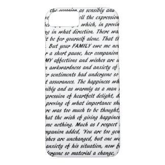 Capa iPhone 8/ 7 Texto do orgulho e do preconceito