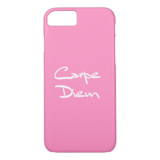 Capa iPhone 8/ 7 Texto legal moderno de CARPE DIEM