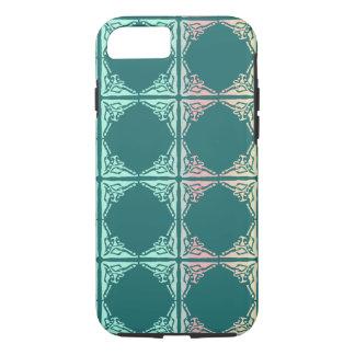 Capa iPhone 8/ 7 Textura abstrata do azulejo da cerceta