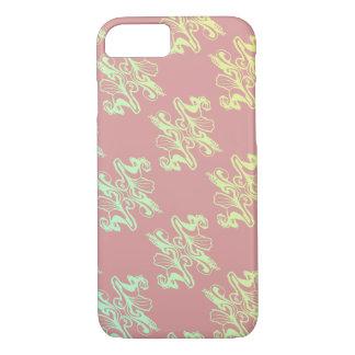 Capa iPhone 8/ 7 Textura abstrata do damasco da modificação do rosa