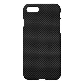 Capa iPhone 8/7 Textura automotriz da fibra preta do carbono