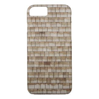 Capa iPhone 8/ 7 textura de madeira bege da parede do grunge