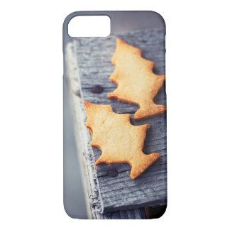 Capa iPhone 8/ 7 Textura de madeira da árvore de Natal dos