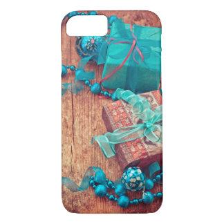 Capa iPhone 8/ 7 Textura de madeira da fita azul das caixas de