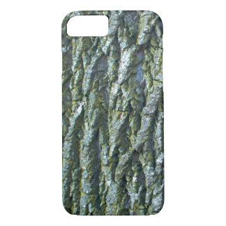 Capa iPhone 8/ 7 Textura do latido de árvore da cinza verde da