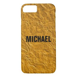 Capa iPhone 8/ 7 Textura dourada
