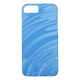 Capa iPhone 8/ 7 textura metálica azul abstrata