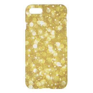 Capa iPhone 8/7 Textura moderna do brilho de Bokeh do ouro
