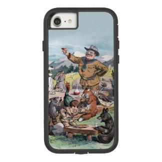 Capa iPhone 8/ 7 Theodore Roosevelt levanta um brinde para animais