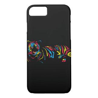 Capa iPhone 8/ 7 Tigre do arco-íris
