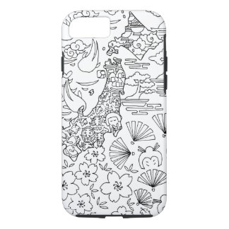 Capa iPhone 8/ 7 Tinta: Exemplo de JAPÃO