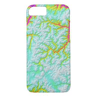 Capa iPhone 8/ 7 Tintura abstrata do laço de Idaho das variações