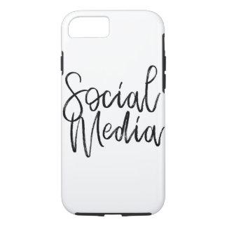 Capa iPhone 8/ 7 Tipografia social dos amantes dos meios