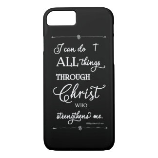 Capa iPhone 8/ 7 Todas as coisas com o cristo - 4:13 dos