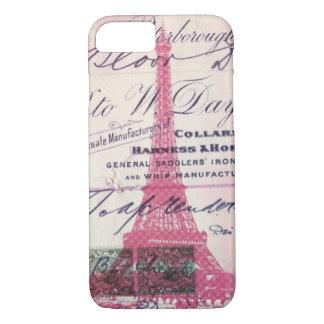 Capa iPhone 8/ 7 torre Eiffel feminino de Paris do francês