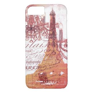 Capa iPhone 8/ 7 torre Eiffel feminino do candelabro francês