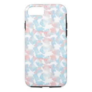 Capa iPhone 8/ 7 Traços cor-de-rosa de turquesa