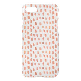 Capa iPhone 8/7 Traços corais alaranjados