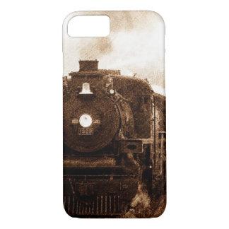 Capa iPhone 8/ 7 Trem do vapor da antiguidade da estrada de ferro