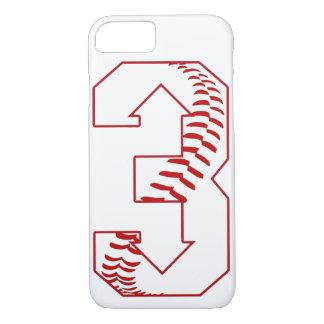 Capa iPhone 8/ 7 Três acima, para baixo basebol três que diz o