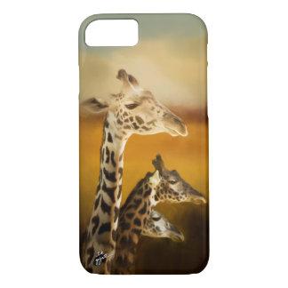 Capa iPhone 8/ 7 Três elegantes artísticos fotográficos dos girafas