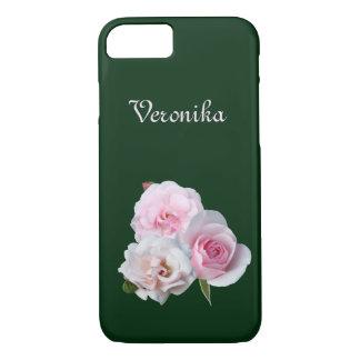Capa iPhone 8/ 7 Três rosas cor-de-rosa