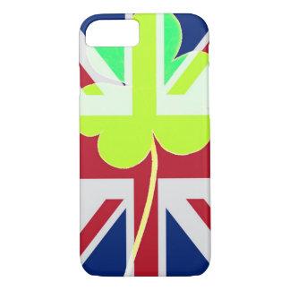 Capa iPhone 8/ 7 Trevo britânico irlandês St Patrick Reino Unido do