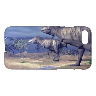 Capa iPhone 8/7 Triceratops de ataque do tiranossauro - 3D rendem