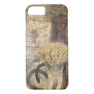 Capa iPhone 8/ 7 Trigo de madeira da ferradura do país ocidental do