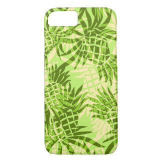 Capa iPhone 8/ 7 Tropical havaiano de Camo do abacaxi - limão