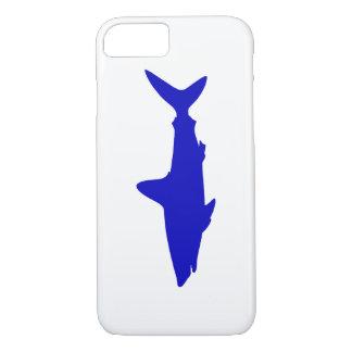 Capa iPhone 8/ 7 Tubarão da natação dos azuis cobaltos