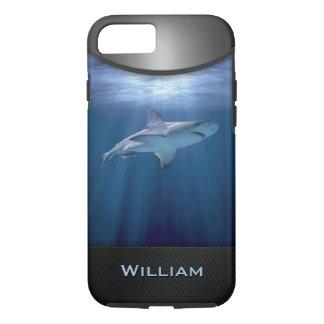 Capa iPhone 8/ 7 Tubarão de cruzamento com nome