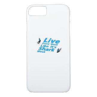 Capa iPhone 8/ 7 Tubarões da semana do tubarão engraçados