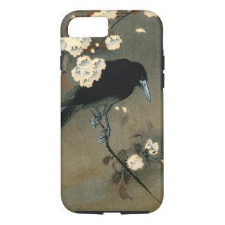 Capa iPhone 8/ 7 Um corvo e uma flor pelo vintage de Ohara Koson