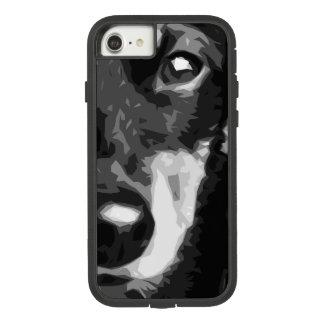 Capa iPhone 8/ 7 Um Dachshund diminuto preto e branco
