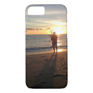 Capa iPhone 8/ 7 um nascer do sol bonito na praia com música