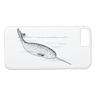 Capa iPhone 8/ 7 Unicórnio da baleia de Narwhal do mar
