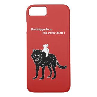 Capa iPhone 8/ 7 Ursinho de pelúcia, lobo, capuchinho de vermelho,