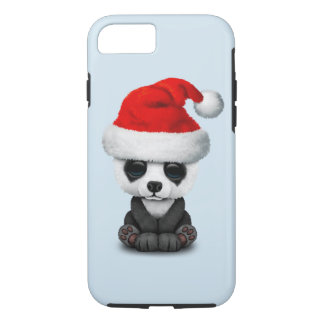 Capa iPhone 8/ 7 Urso de panda do bebê que veste um chapéu do papai